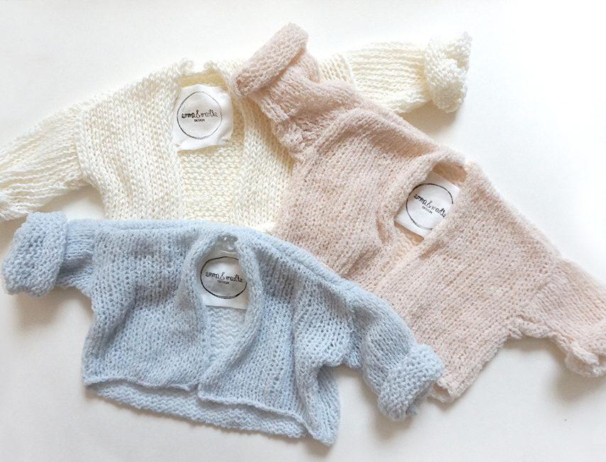 nachhaltige und handgefertigte Strickmode fuer Babys