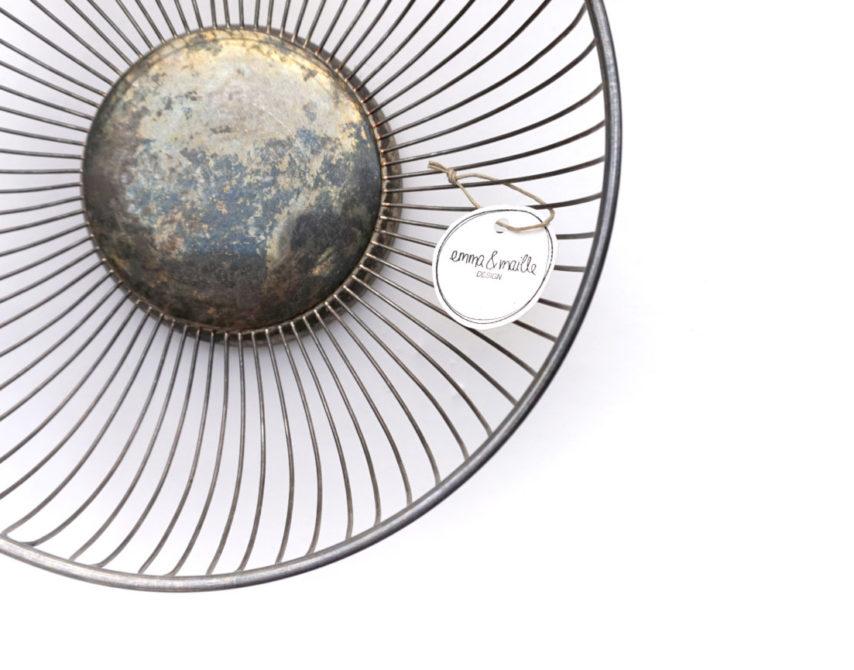 Vintage - Obstschale in Silber
