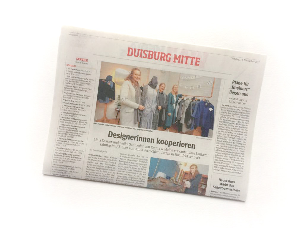 WAZ-Zeitungsartikel Atelier