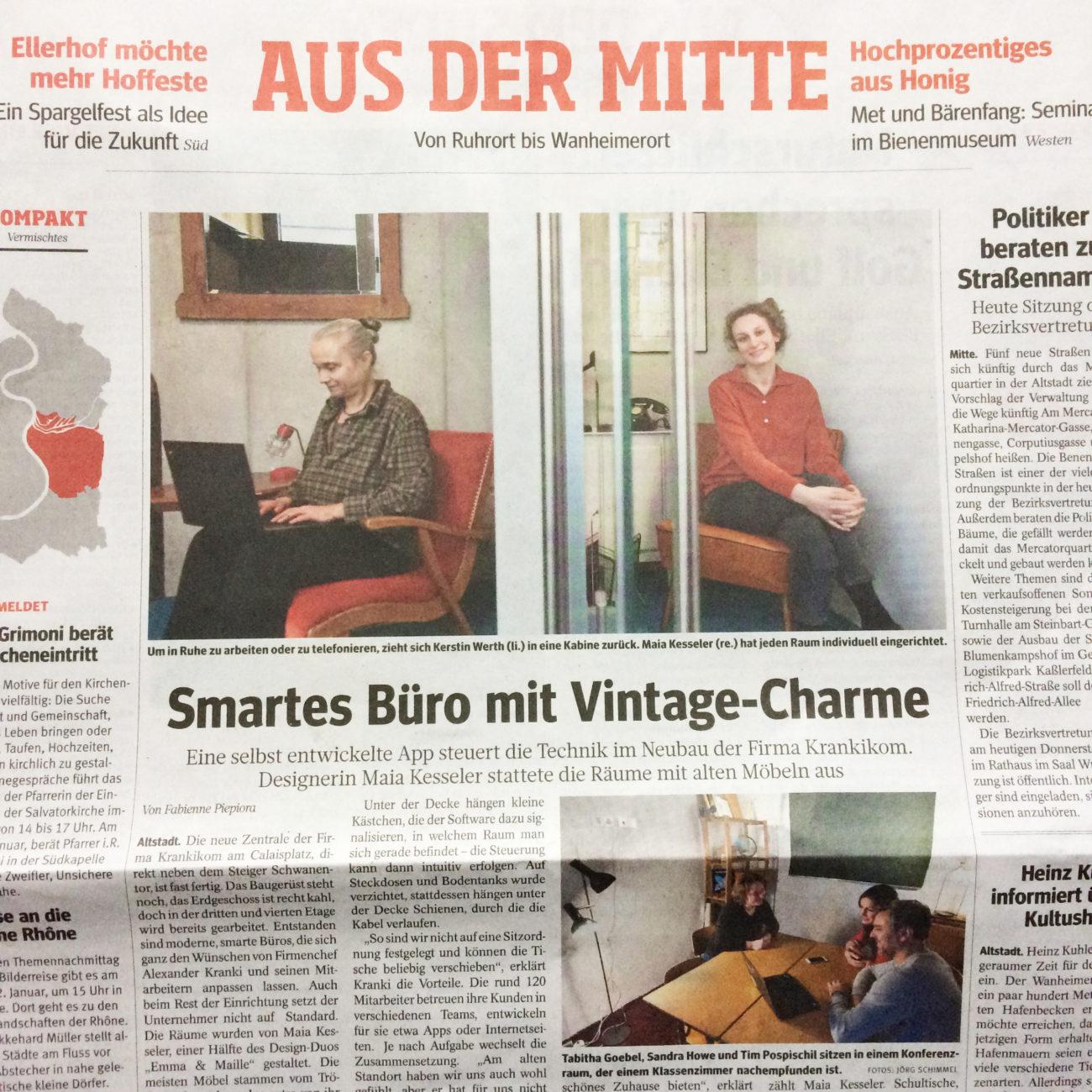 WAZ Zeitungsartikel