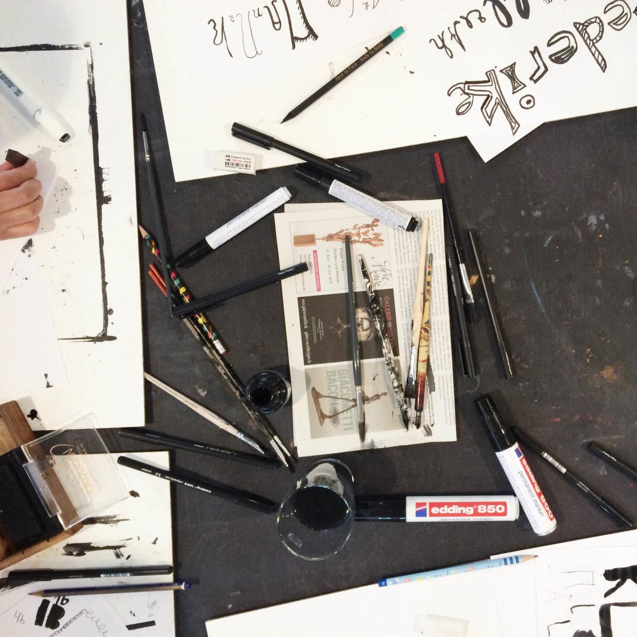 workshop Tisch